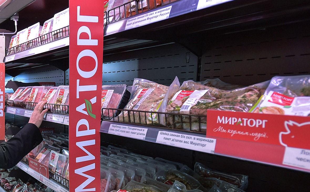 Продукты «Мираторга» на полках супермаркета