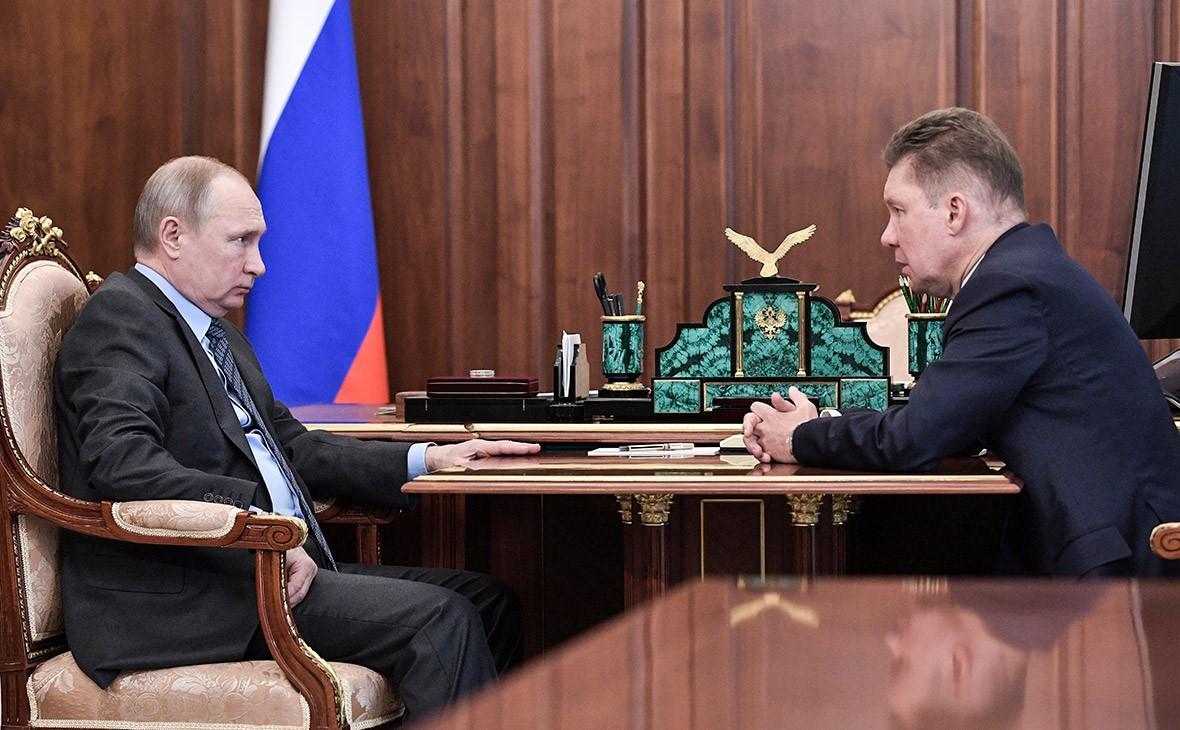 Путин и Миллер за столом