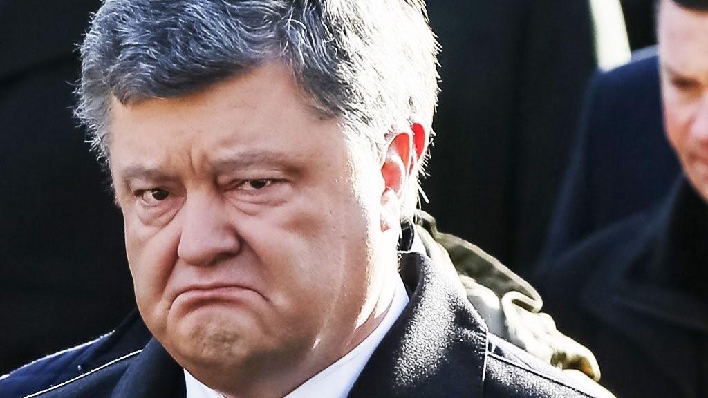 Расстроенный Порошенко