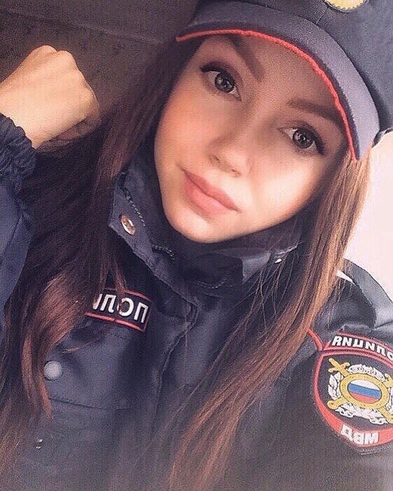 Российские девушки-красавицы из полиции