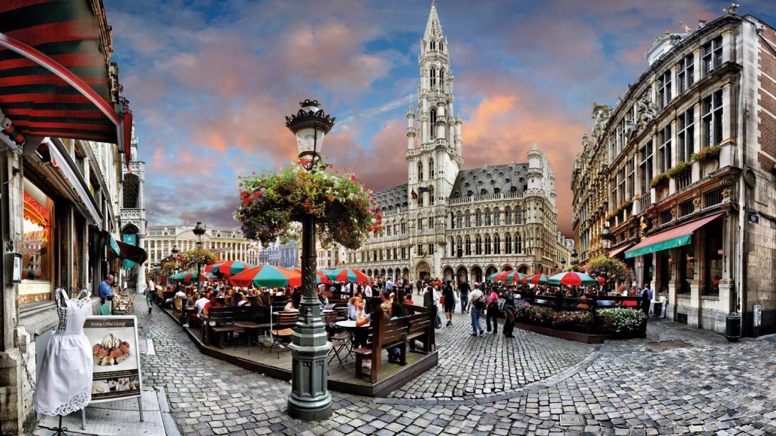 Старинный город в Бельгии