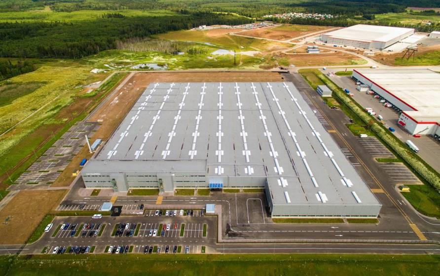 Территория подмосковного завода Mersedes