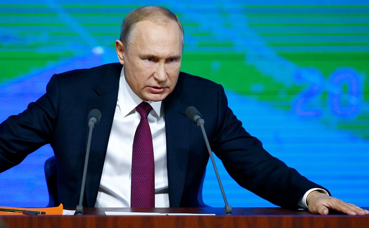Владимир Путин в эфире телеканала