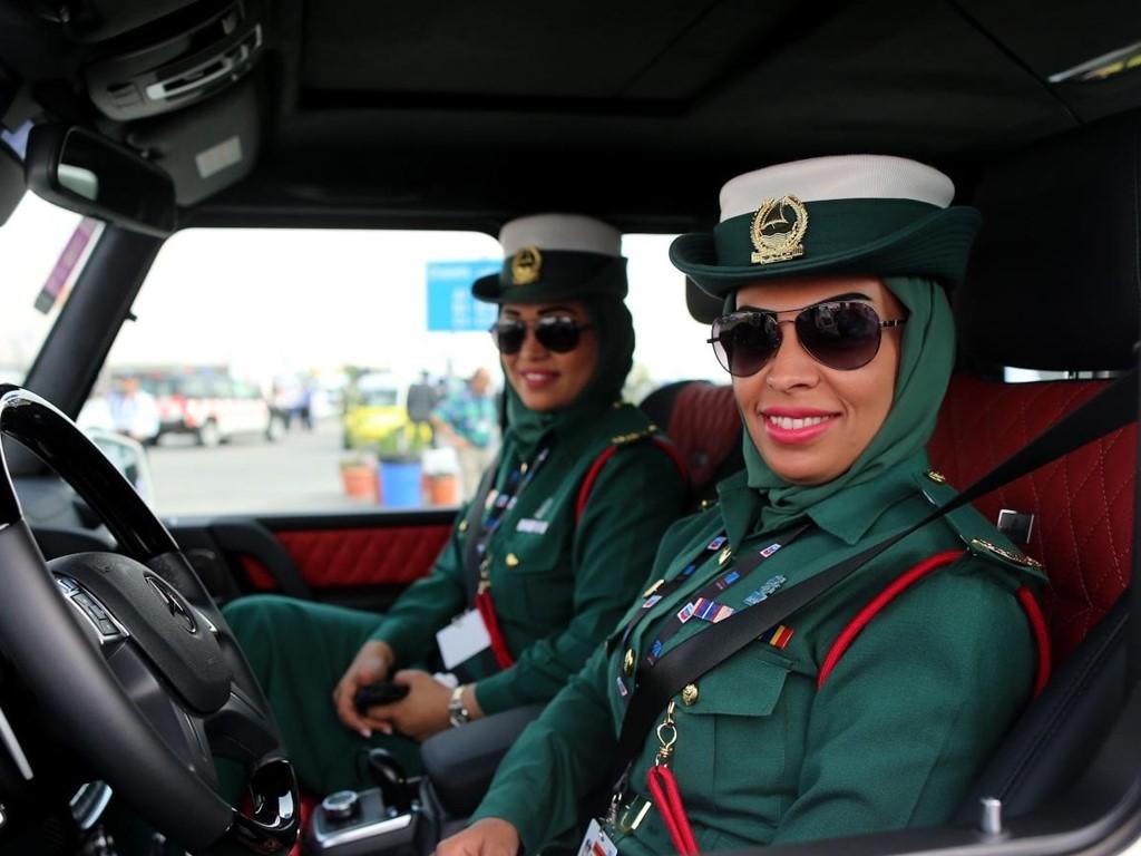 Женщины-полицейские из Арабских Эмиратов