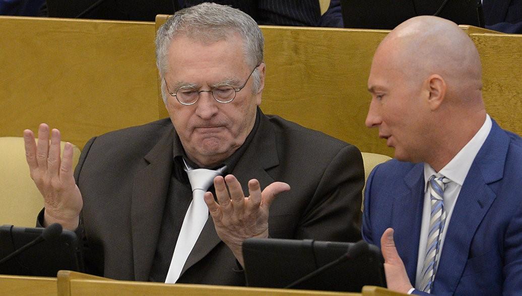 Жириновский и Лебедев в Госдуме