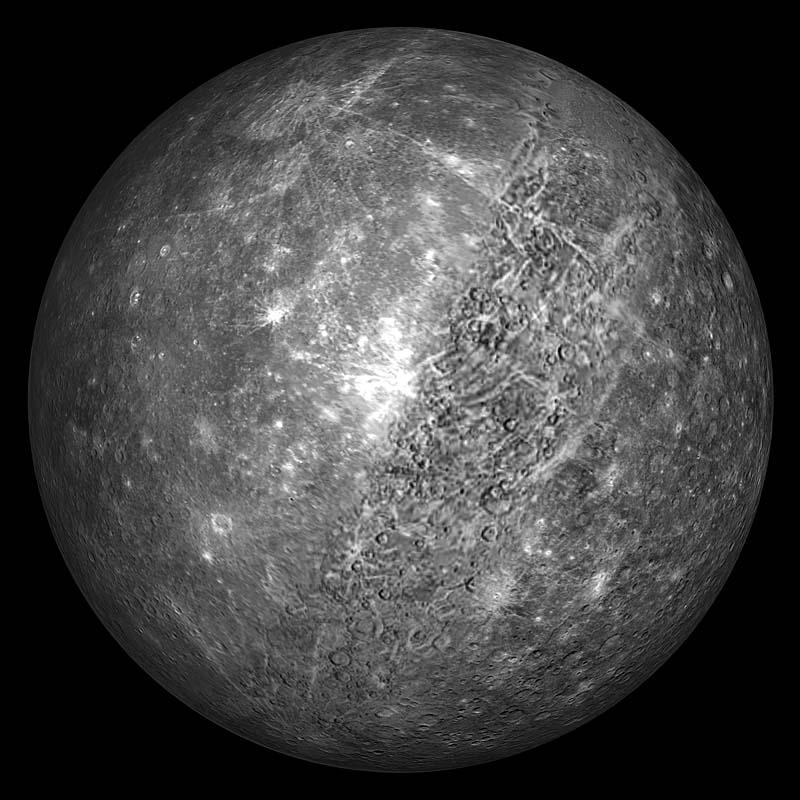 средний радиус меркурия