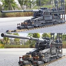 немецкая пушка на рельсах