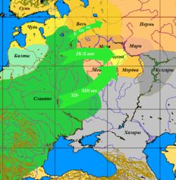 прародина славян карта