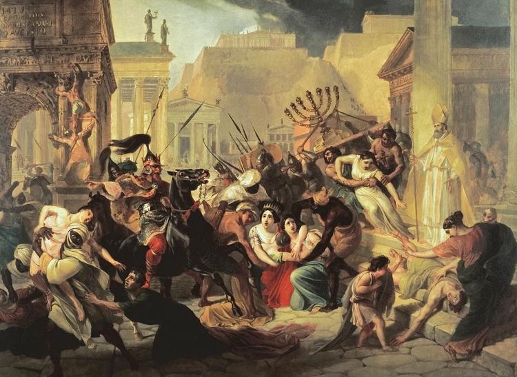 в каком году произошел распад римской империи