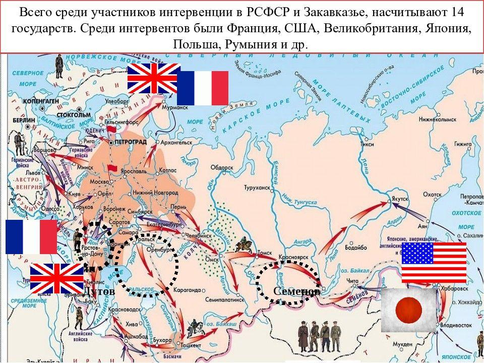 военная интервенция в россии 1918 1920