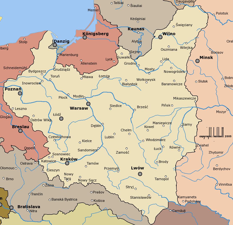 границы польши до 1939