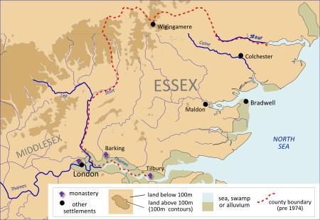 англосаксы на карте
