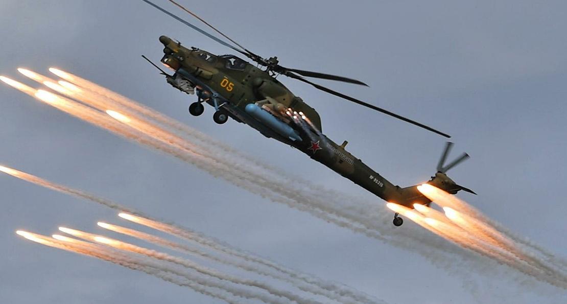 российские боевые вертолеты