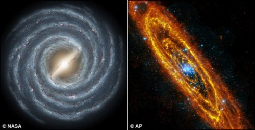 галактика андромеды в телескоп
