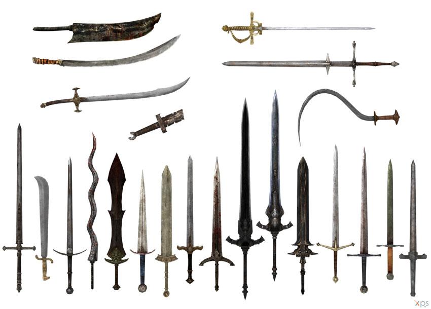 виды двуручных мечей