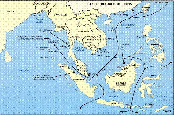 китайское море на карте