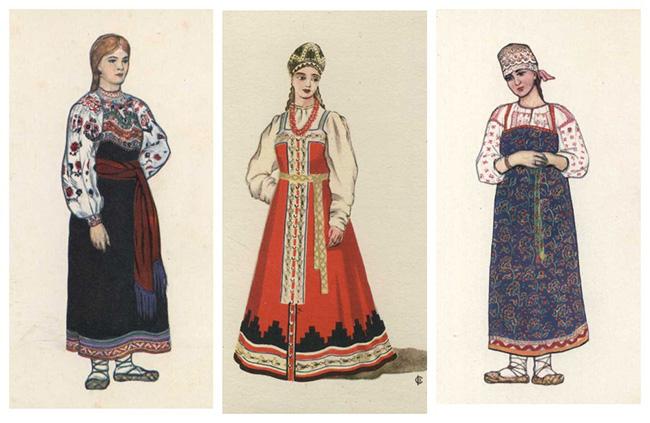 как одевались женщины на руси