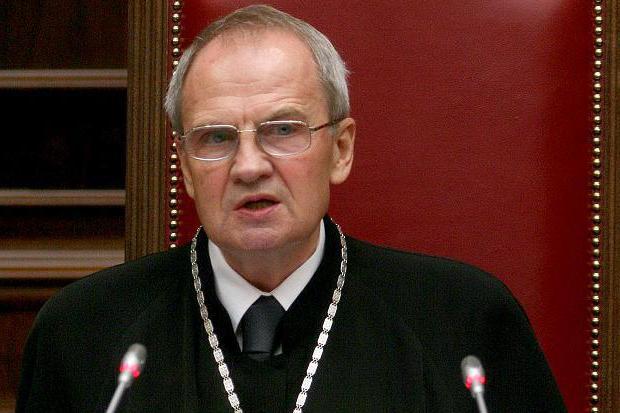 руководитель конституционного суда рф