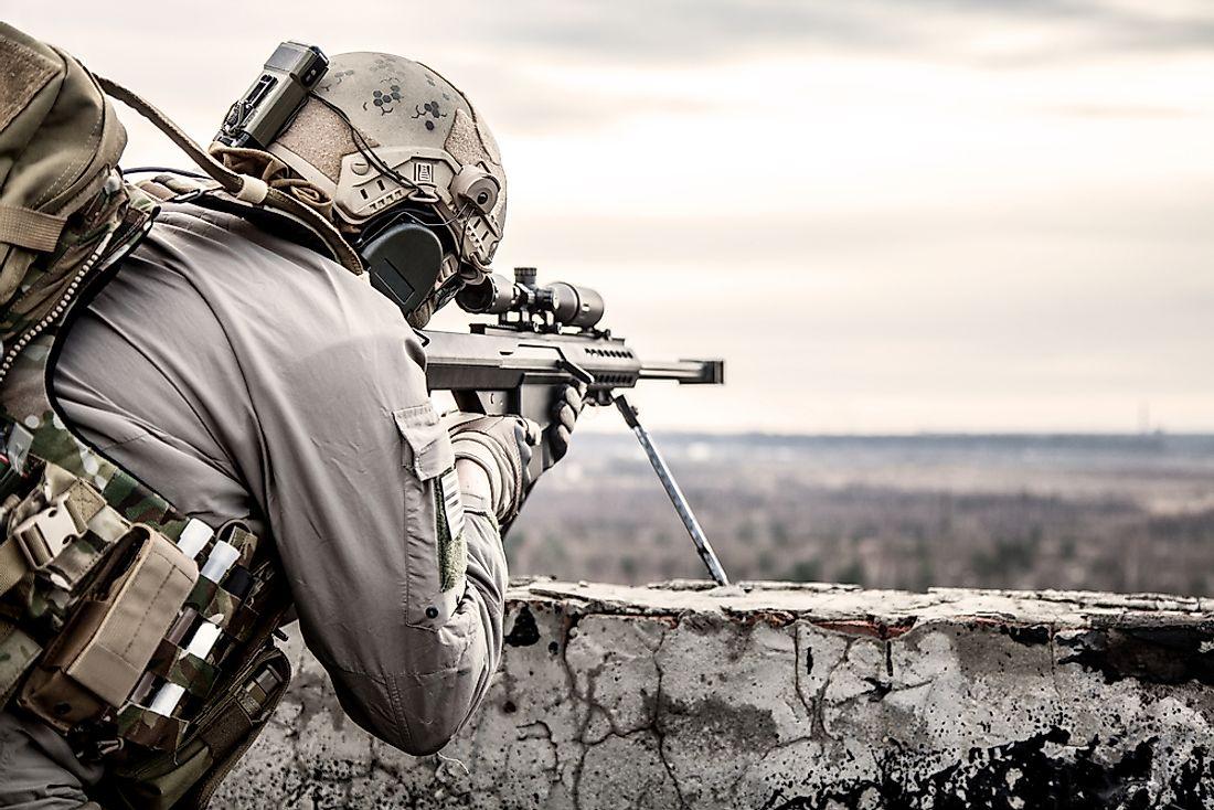 выстрел снайпера