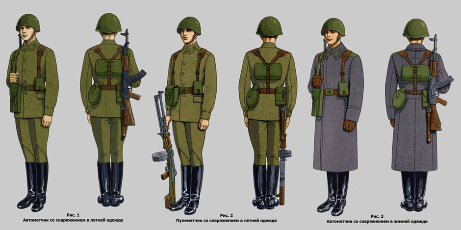 форма солдата ссср
