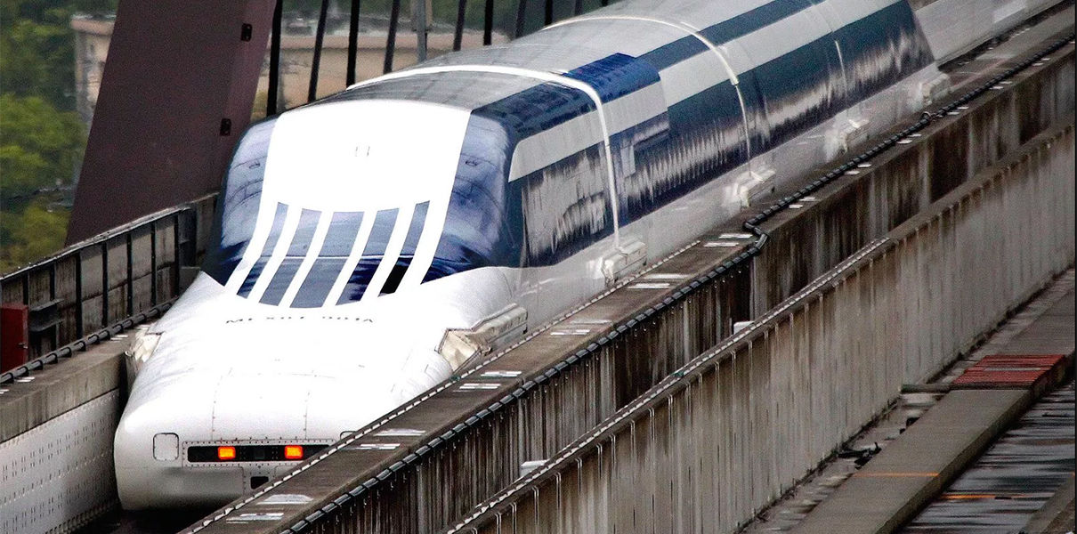 поезд на магнитной подушке япония