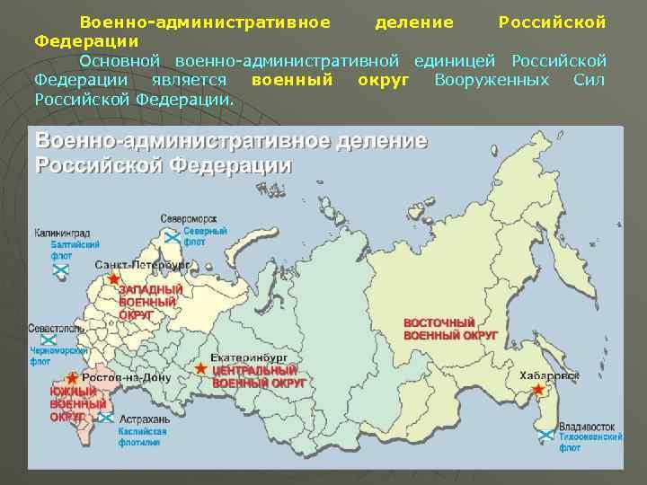 карта военных округов россии