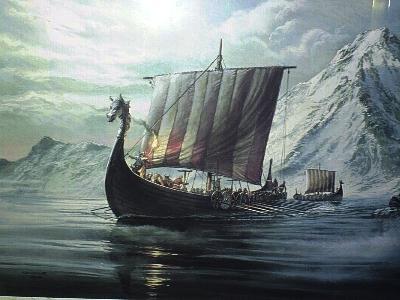 схема корабля викингов