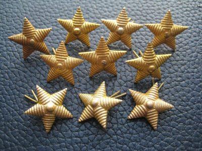 расположение звезд на погонах военнослужащих
