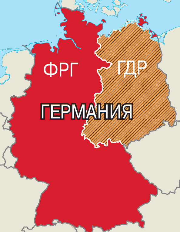 объединение германии карта