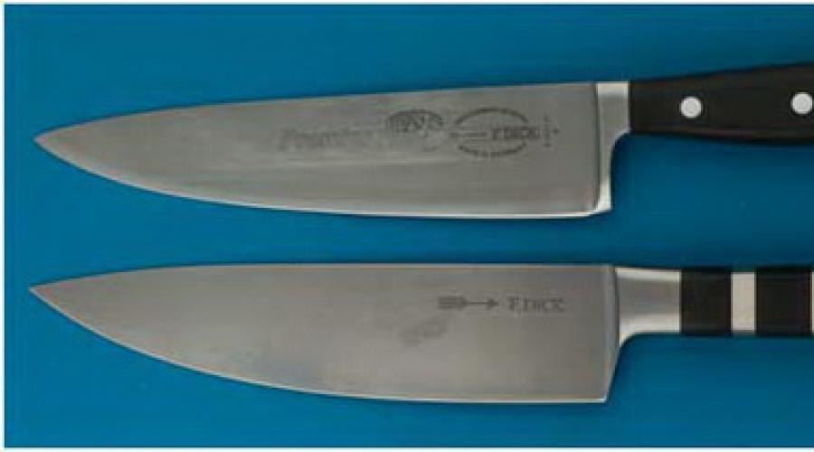 из чего состоит нож