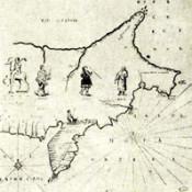 путь витуса беринга на контурной карте