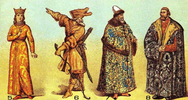 древняя русская одежда