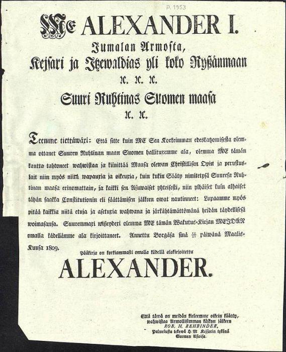конституция финляндии 1809