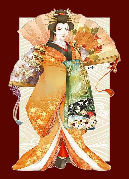 кимоно женское японское традиционное