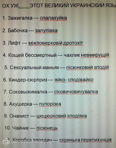 история украинского языка