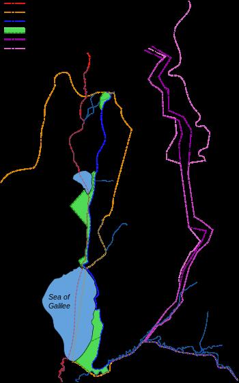 голанские высоты на карте