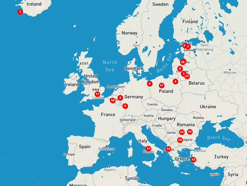 базы сша в мире карта