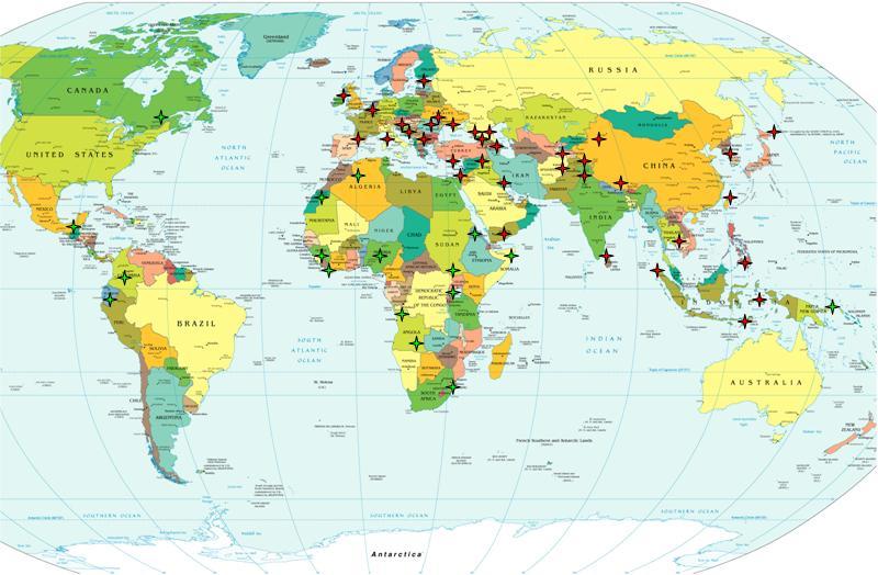 горячие точки на современной политической карте мира