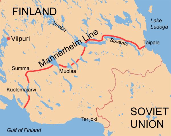 линия маннергейма на современной карте