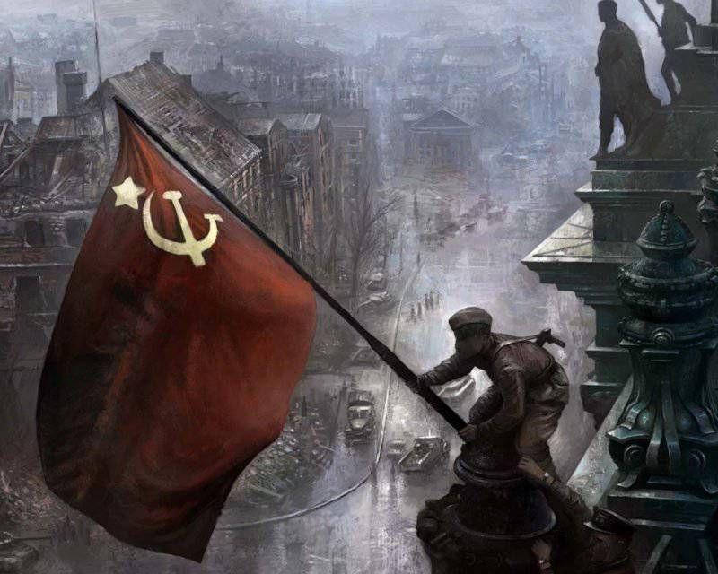 кто повесил флаг над рейхстагом