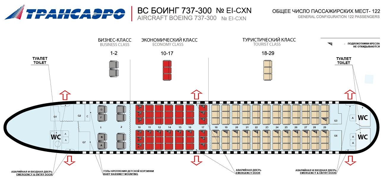 боинг 747 расположение мест