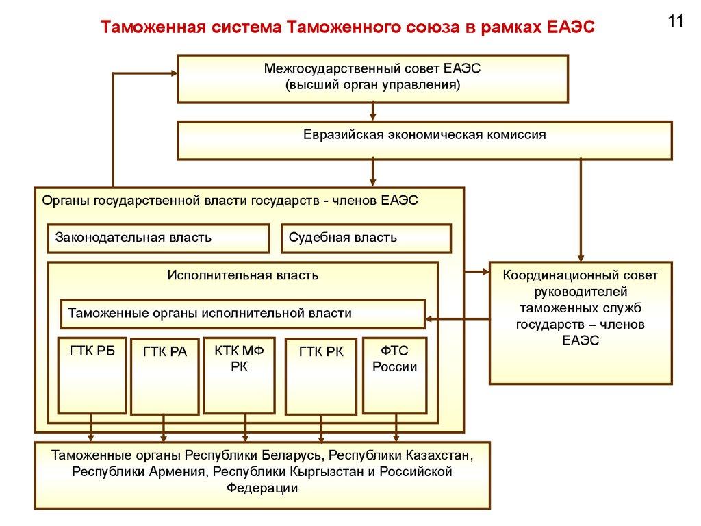 структура таможенных органов