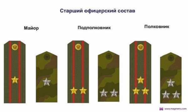 звания в фсб россии по возрастанию