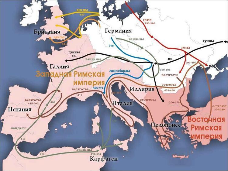 распад римской империи год
