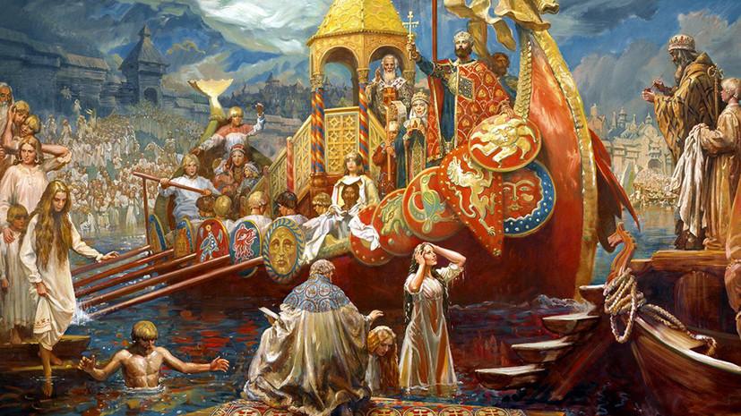 владимир святославович крещение руси