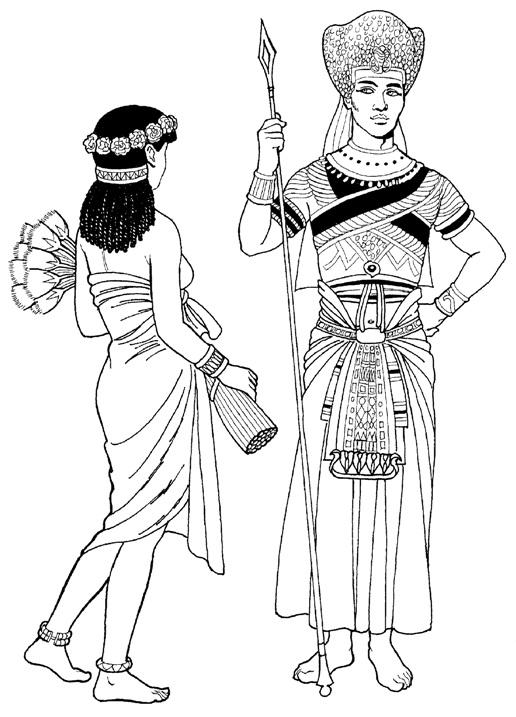 одежда египтян в древности