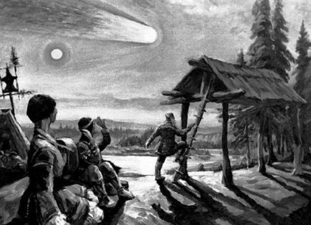 где упал тунгусский метеорит на карте