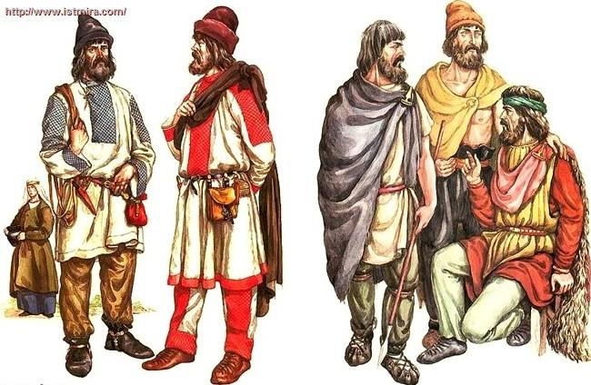 древнерусская одежда женщин