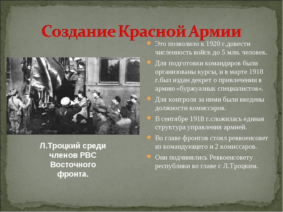реввоенсовет республики в 1918 г возглавил