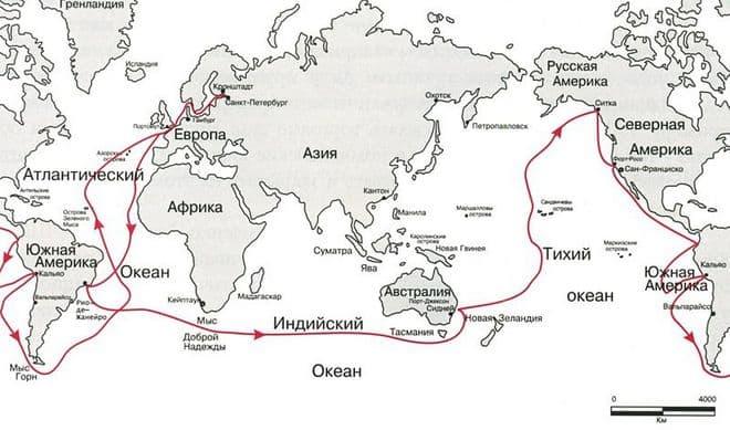 маршрут беллинсгаузена на карте